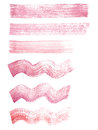 Hand painted red and pink watercolor grunge straight and wavy strokes textures