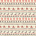 Hand painted textured ethnic seamless pattern endless tribal background Stock Image