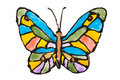 Hand painted transparent butterfly Stock Photography