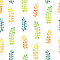 Hand painted watercolor leaves seamless floral pattern vector background. Leaf and flowers botanical pattern.