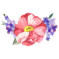 Hand painted watercolor vector floral bouquet Royalty Free Stock Photo