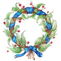 Hand painted watercolor wreath Royalty Free Stock Photo
