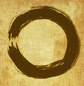 Hand painted zen circle Royalty Free Stock Images