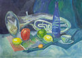 Hand painting drawn still life Royalty Free Stock Photo