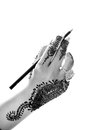 Hand and pencil Royalty Free Stock Photo