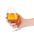 Hand with a perfect beer glass. Royalty Free Stock Photo