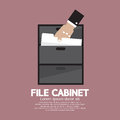Hand Picking A Document From A File Cabinet Royalty Free Stock Photo