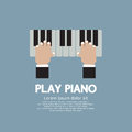 Hand playing piano vector illustration Royalty Free Stock Image