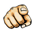 Hand pointing finger vector illustration Royalty Free Stock Photo