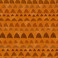 Hand printed textured ethnic seamless pattern endless tribal texture Stock Photos