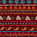 Hand printed textured motley ethnic seamless pattern tribal endless background Royalty Free Stock Image