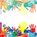 Hand prints background Stock Photography