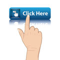 Hand push web button Stock Images