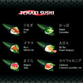Hand roll sushi temaki with eel salmon roe tuna cucumber and prawn Royalty Free Stock Photos