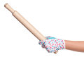 Hand with rolling-pin Royalty Free Stock Image