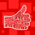 Hand sale Stock Photography