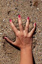 Hand in the Sand Royalty Free Stock Photography