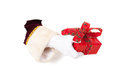 Hand of Santa Claus with present Royalty Free Stock Photos
