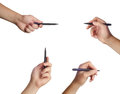 Hand set ready for drawing with black marker. Royalty Free Stock Image