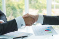 Hand shake of businessman Royalty Free Stock Photo