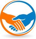 Hand shake logo