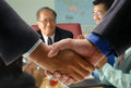 Hand shake at office in meeting room the Royalty Free Stock Photo