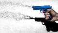 Hand Shooting Water Pistol, 70...
