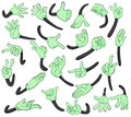 Hand signals illustration of on a white background Royalty Free Stock Photo