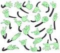 Hand signals Royalty Free Stock Photo