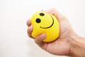 Hand Squeeze Yellow Stress Bal...