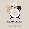 Hand stop alarm clock vector illustration eps Royalty Free Stock Photos