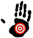 Hand with target Stock Image