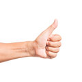 Hand thumb up like concept isolated Royalty Free Stock Photo