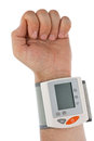 The hand with the tonometer. Stock Image