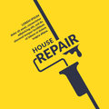 Hand tool for home renovation and construction. Building and house repair. vector illustration.
