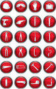 Hand tool icons Royalty Free Stock Images