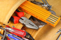 Hand tool set Royalty Free Stock Photo