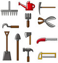 Hand tool silhouette collection vectors Royalty Free Stock Photos