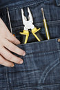 Hand tools Royalty Free Stock Photo