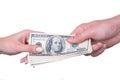 Hand transfer money