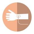 Hand transfusion drop shadow