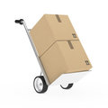 Hand truck package Stock Images