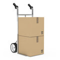 Hand truck package Royalty Free Stock Photography