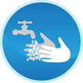 Hand washing sign Royalty Free Stock Image