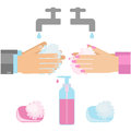 Hand washing with soap Royalty Free Stock Photo