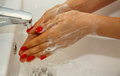 Hand Washing. Royalty Free Stock Photo