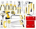 Hand work tools set Stock Photos