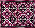 Hand woven textile background, Pakistan Royalty Free Stock Photo