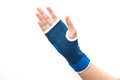 Hand with wrist support Royalty Free Stock Photo