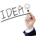Hand write a idea word Royalty Free Stock Photo
